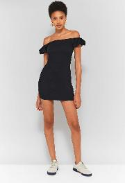 Puff Off The Shoulder Bodycon Dress