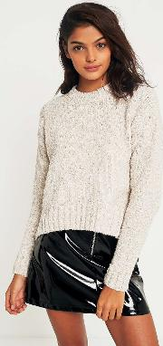 Textured Cropped Jumper