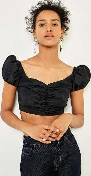 Prom Taffeta Crop Top