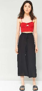 Embroidered Side Culottes