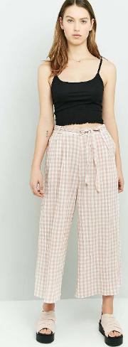 Gingham Crinkle Culottes