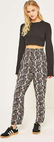 Paisley Crinkle Tapered Trousers