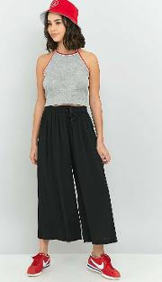 Tie Front Crinkle Culottes