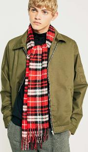 Uo Red Plaid Scarf