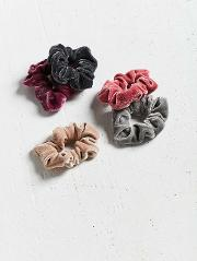 Velvet Hair Scrunchie Hair Band 5 Pack