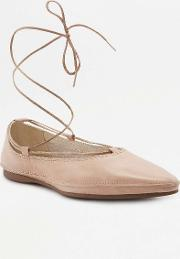 Antonia Off White Leather Pointy Toe Flats