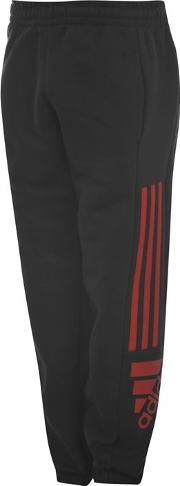 3 Striped Logo Fleece Pants Junior
