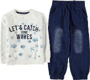Two Piece Crew Sweater Set Infant Boys