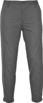 Cropped Turn Up Trousers