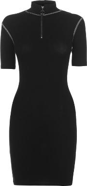 Zip Bodycon Dress