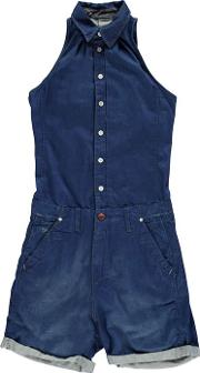 Page Navy Low Playsuit
