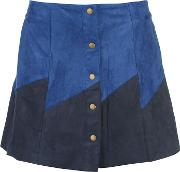 Button Front Panel Skirt