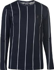 Pinstripe Long Sleeve T Shirt