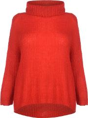 Daisy Roll Neck Knitted Jumper