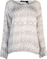 Marc Long Sleeve Print Blouse