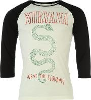 Nirvana Raglan T Shirt Mens