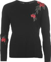 Nynne Embroidered Knitted Jumper