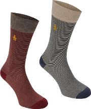 2 Pack Stripe Mens