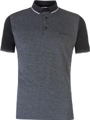 Front Pattern Polo Shirt Mens