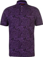 Paisley Polo Shirt Mens
