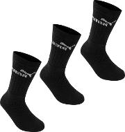 3 Pack Crew Socks Junior