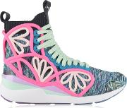 Cage Graphic High Top Trainers