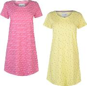 And Rags 2 Pack Night Dress Ladies