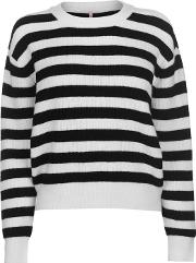 And Rags Stripe Jumper Ladies