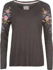 Embroidered Lounge Top