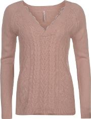 Lace V Neck Jumper
