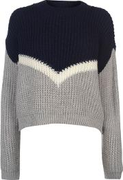 Deluxe Colour Block Knitted Jumper