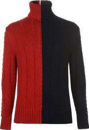 Tommy Vertical Roll Neck Sweater