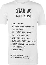Fancy Dress Stag Do Checklist T Shirt