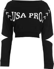 Little Mix Lace Up Crew Sweater Ladies