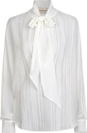 Pussy Bow Sheer Blouse