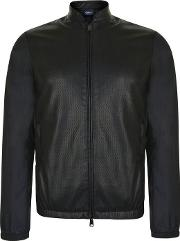 Perforated Panel Bomber Jacket