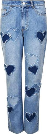 Melrose Distressed Heart Jeans