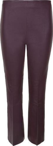 Phase Bootcut Leather Trousers
