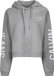 Logo Cropped Hooded Sweatshirt