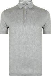 Micro Patterned Polo Shirt