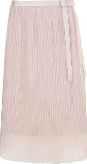 Roxy Pleated Midi Skirt