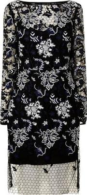 Floral Lace Long Sleeved Dress