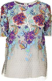 Short Sleeved Lace T Shirt