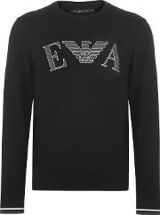Embossed Crew Neck Sweatshirt