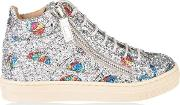 Children Girls London Sparkle May High Top Trainers