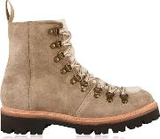 Nanette Suede Shearling Boots