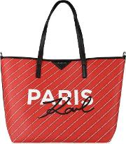 Paris Stripe Logo Shopper Bag