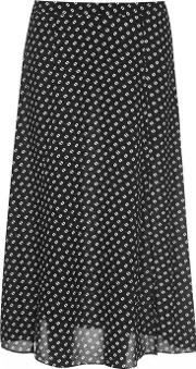 Dotted Maxi Skirt