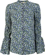 Floral Print Long Sleeved Blouse