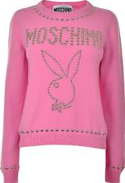 Stud Playboy Knitted Jumper